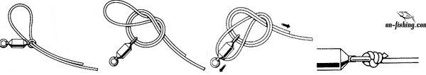 как вязать узел на плетеной леске
